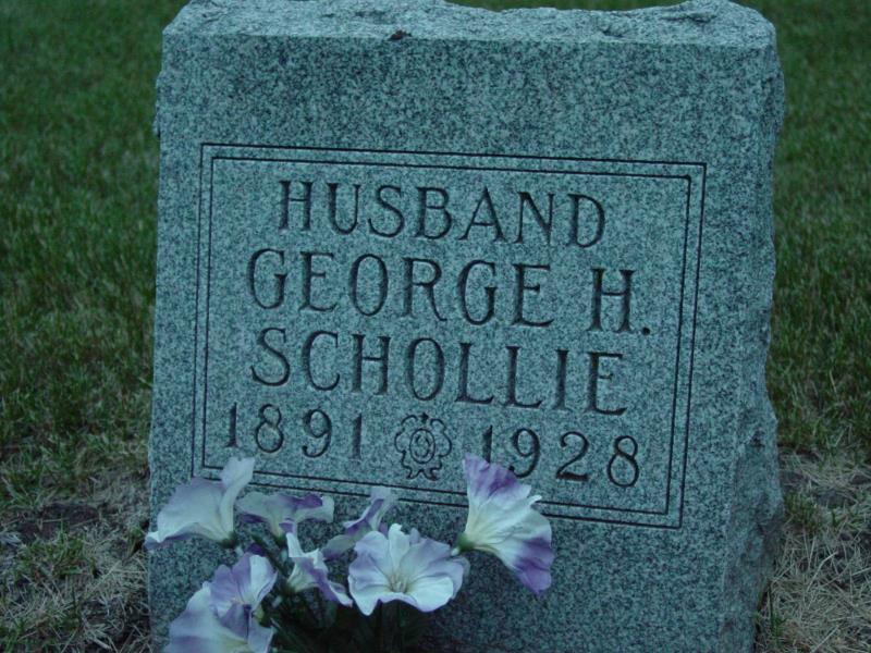 George Schollie Tombstone