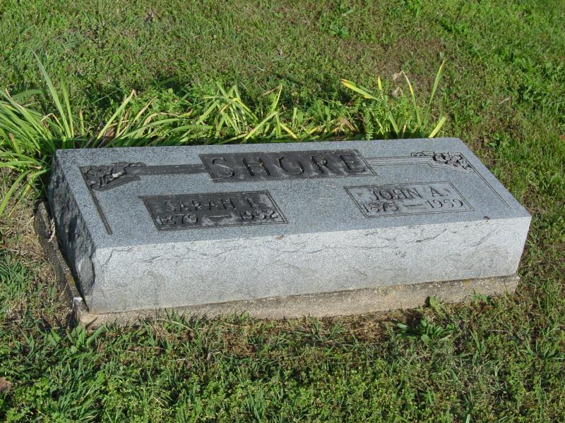 John and Sarah Shore Tombstone